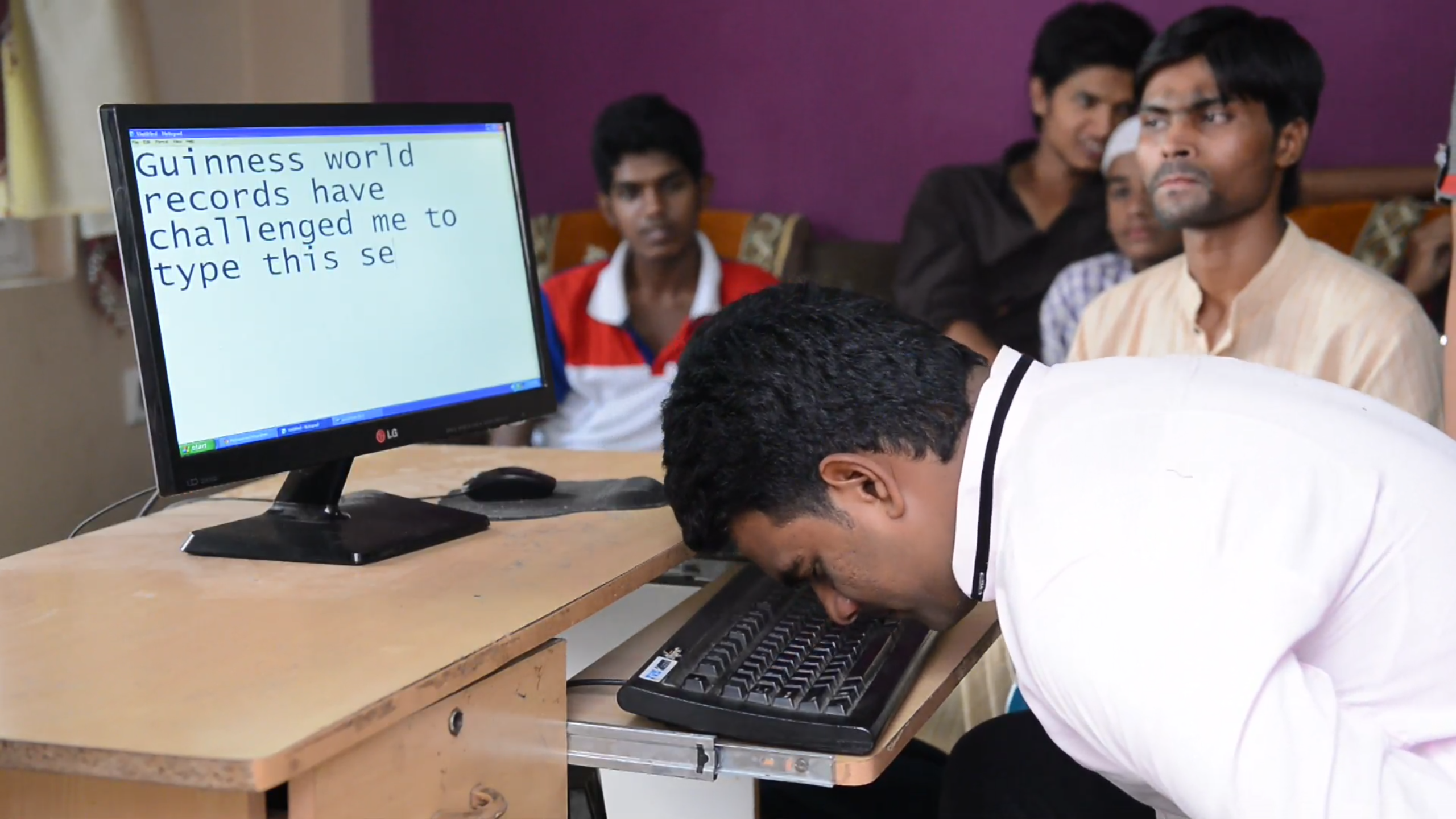 Fastest to type the English alphabet with the nose, OMG-level World Record holders from India!-voxytalksy