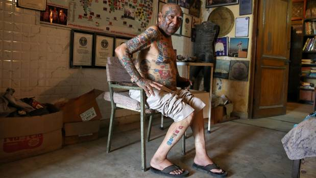 Most flags tattooed on the human body, OMG-level World Record holders from India!-voxytalksy