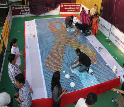 World's largest condom mosaic, OMG-level World Record holders from India!-voxytalksy