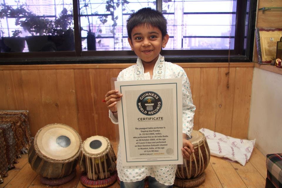 Youngest Tabla Performer, OMG-level World Record holders from India!-voxytalksy