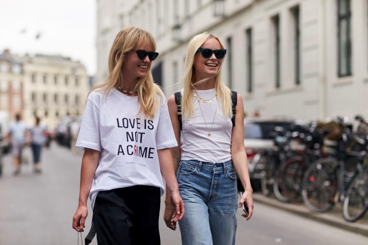 White/Black T-Shirt, denim jacket Wardrobe Essentials every college girl must own!-voxytalksy