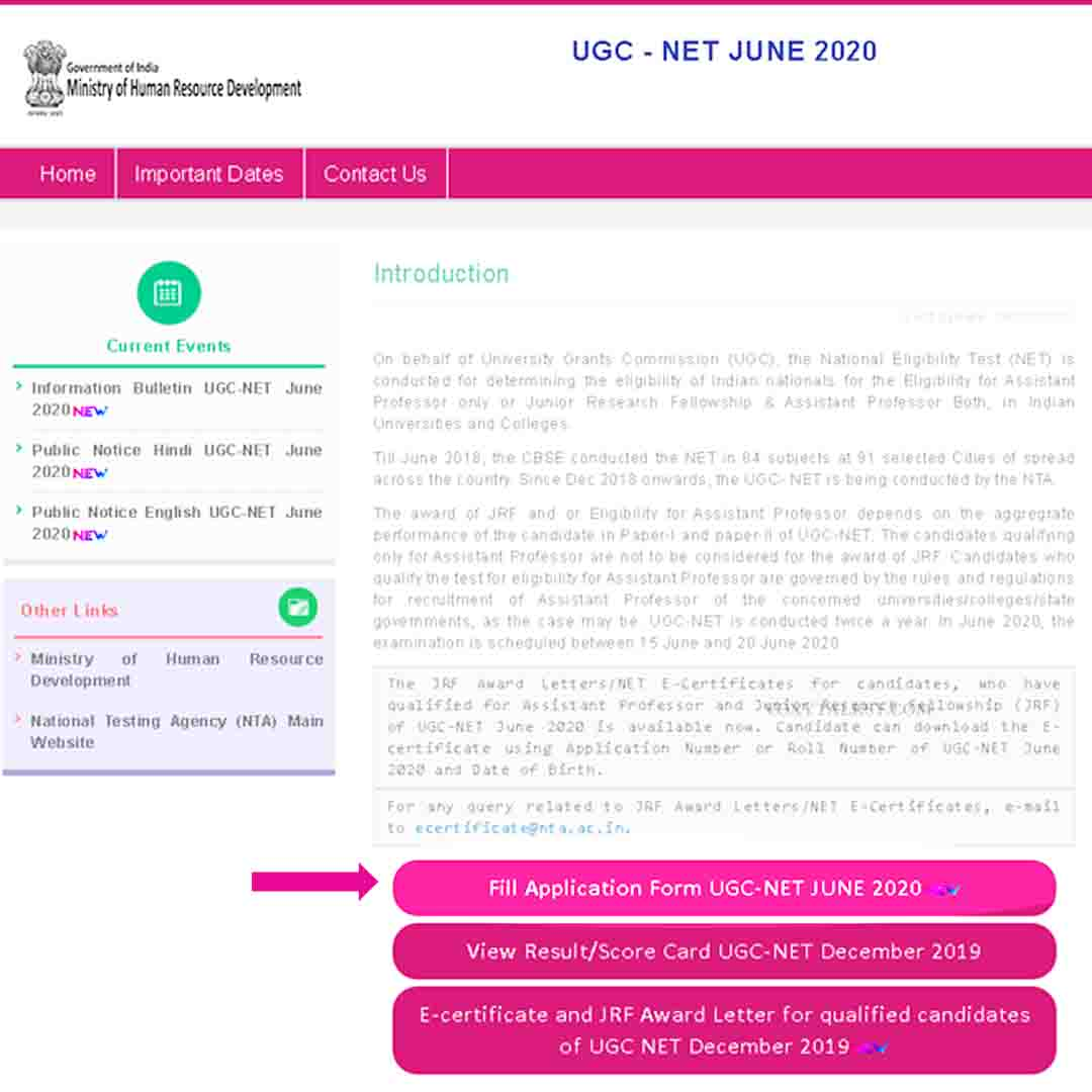 NTA UGC-NET June 2020