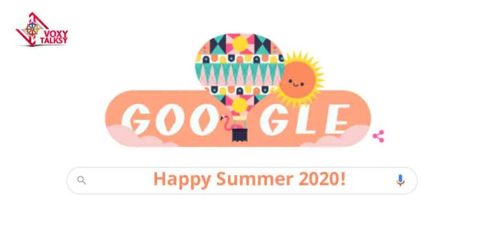 Google celebrates summer season with awsome Doodle, 21st june! voxytalksy