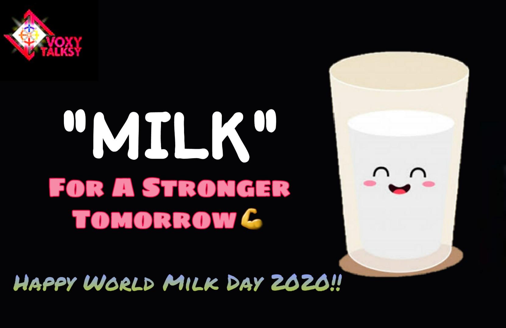 World Milk Day 2020 , VoxyTalksy