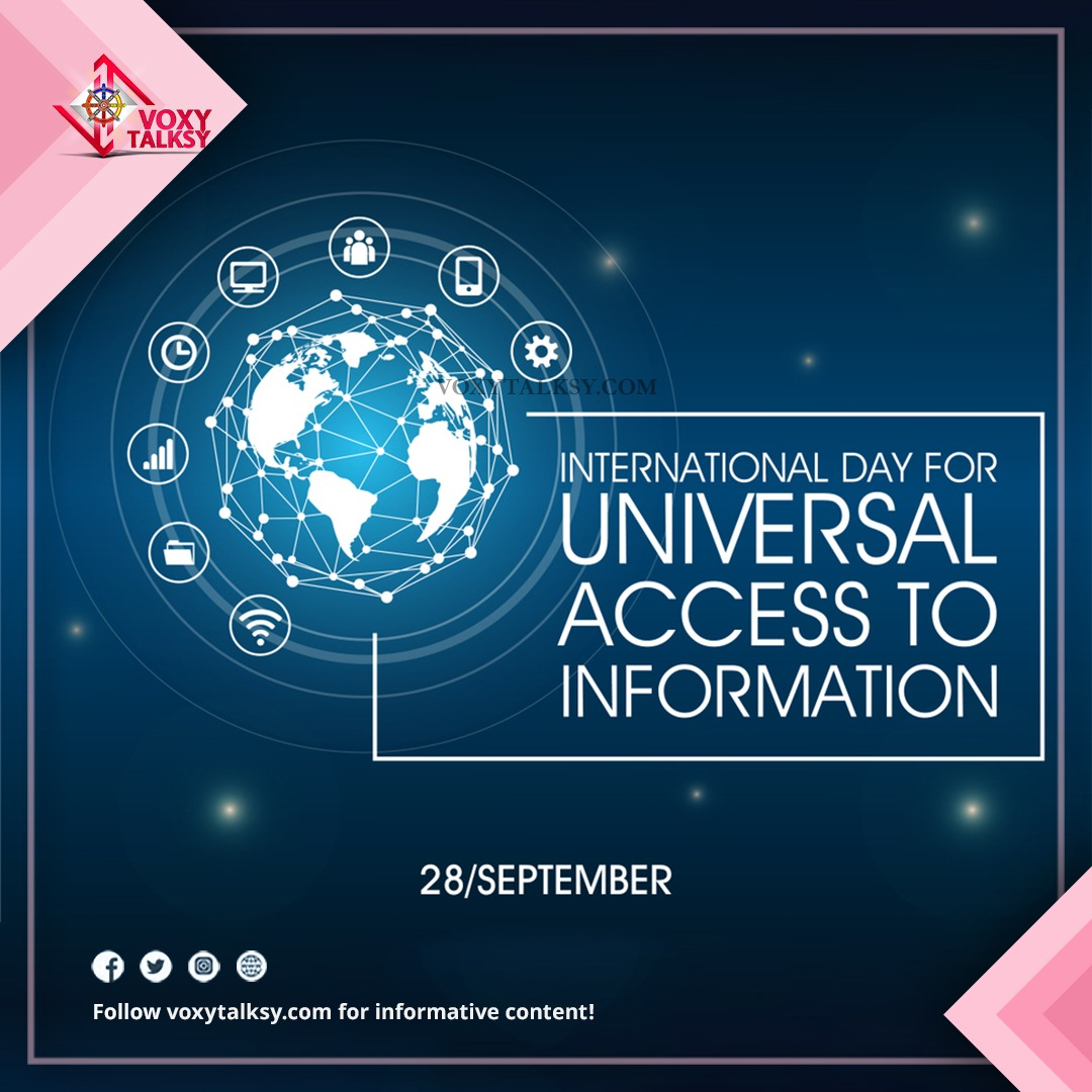 International Day for Universal Access to Information | VoxyTalksy